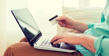 Оплата через копьютер с помощью кредитной карты