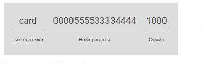Заполнение данных для перевода средств по смс