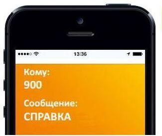 СМС-сообщение с кодом «справка» на номер 900