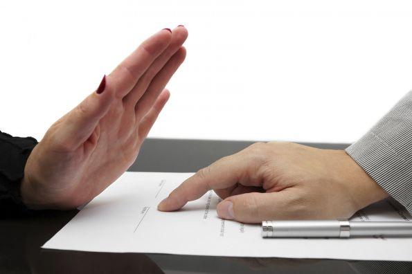 Отказ от подписания документа